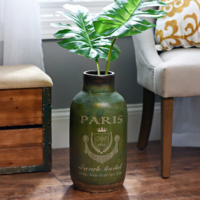 Green Paris Market Ceramic Vase