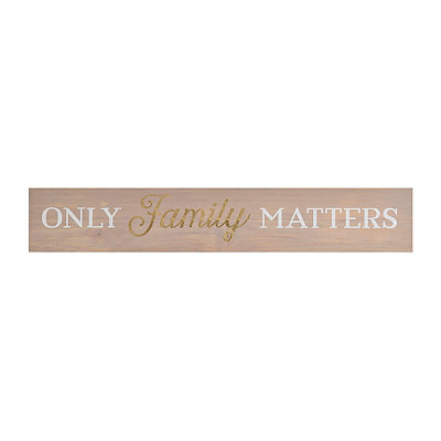 Family Matters Wood Plank Plaque