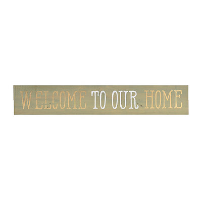 Welcome to our Home Wood Plank Plaque