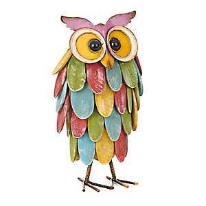 Multicolored Owl Statue