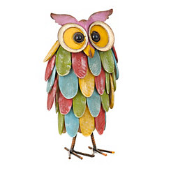 Multicolored Owl Statue