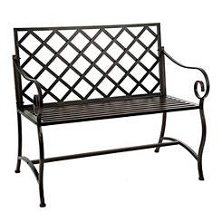 Bronze Metal Outdoor Bench
