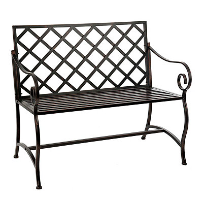 Bronze Metal Outdoor Bench