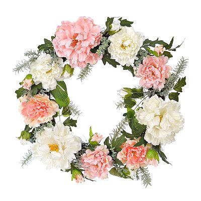 Mixed Peony Wreath