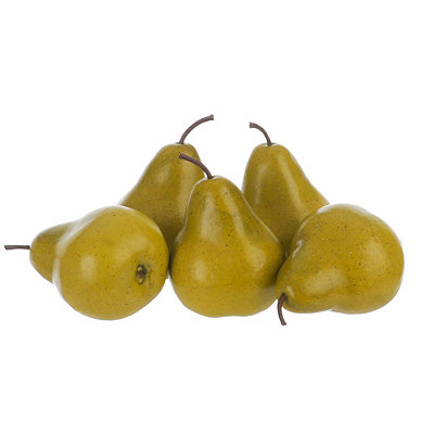 Artificial Pears, Set of 5