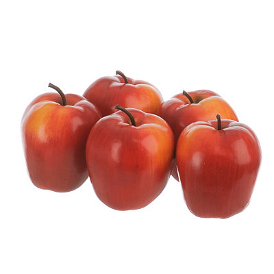 Artificial Red Apples, Set of 5