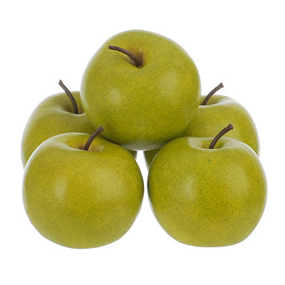 Artificial Granny Smith Apples, Set of 5