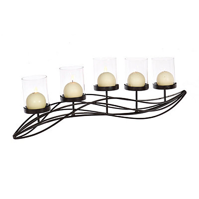 Bronze Waves Candle Runner