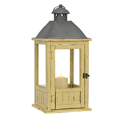 Yellow Wood Lantern