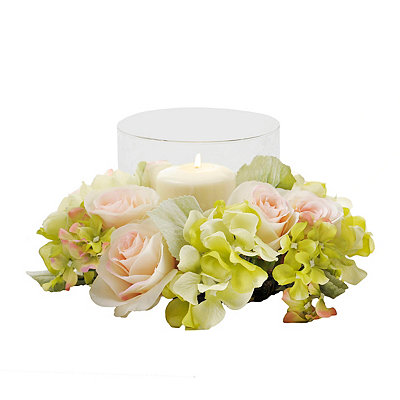 Rose Ring Floral Candle Holder