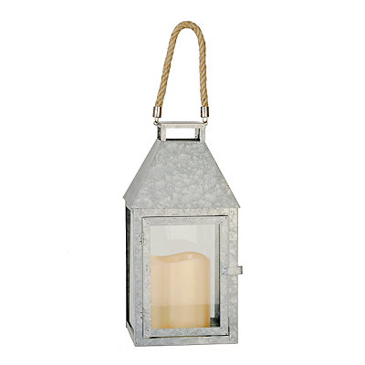 Galvanized Metal LED Lantern