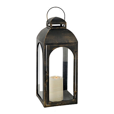 Oil Rubbed Bronze Metal Lantern