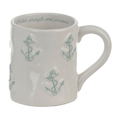 Embossed Blue Anchor Mug