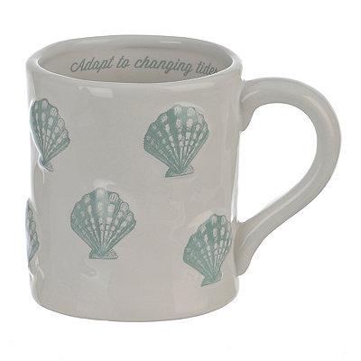 Embossed Turquoise Shell Mug