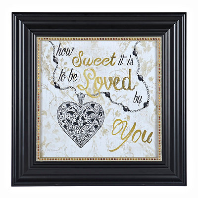 Jeweled How Sweet it is Framed Art Print