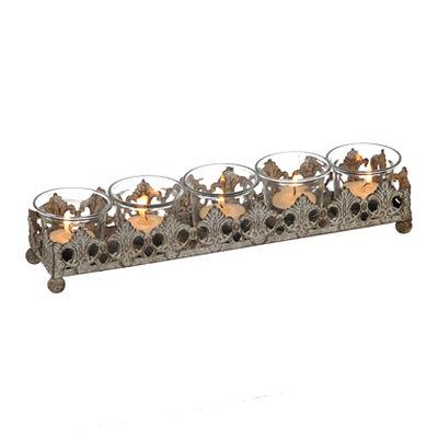 Rustic Fleur-de-lis Metal Candle Runner
