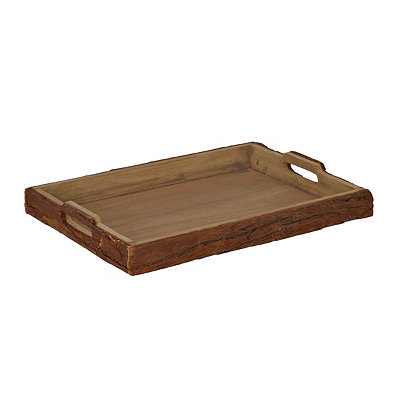 Rustic Wood Bark Tray