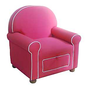 Pink Kids Storage Chair