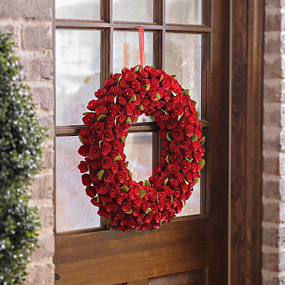Red Rose Wood Wreath