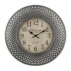 Silver Ornate Openwork Clock