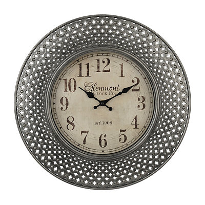 Silver Ornate Openwork Clock