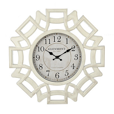 White Openwork Lattice Clock