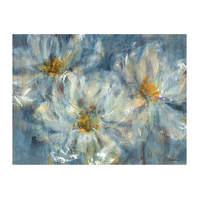 Blue Cosmos Canvas Art Print