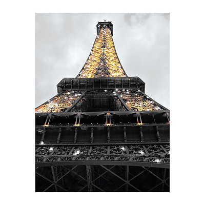 Eiffel Tower Lights Canvas Art Print