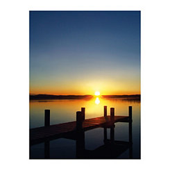 Speechless Sunset II Canvas Art Print