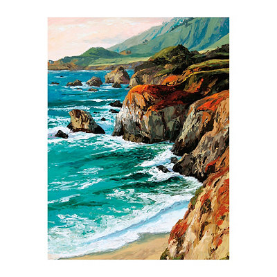 Coastal Grandeur Canvas Art Print