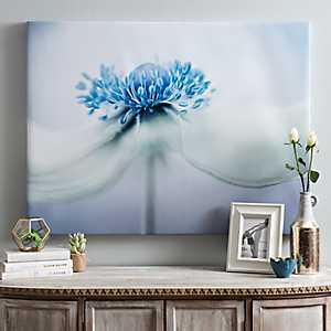Anemone Blues Canvas Art Print