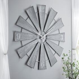 Anniblaire Galvanized Windmill Clock