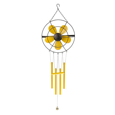 Yellow Retro Fan Wind Chime