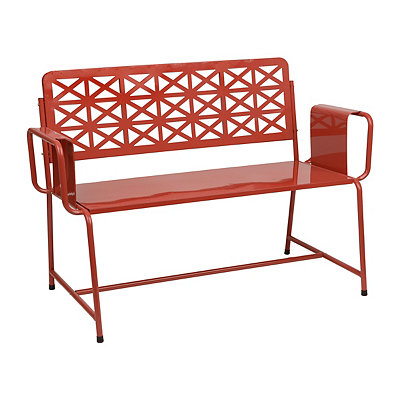 Red Retro Metal Bench