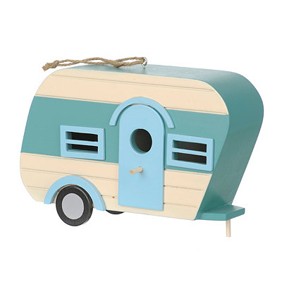 Blue Camper Bird House