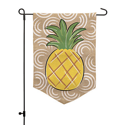 Burlap Pineapple Flag Set
