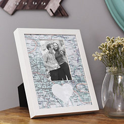 Heart Map Picture Frame, 4x6