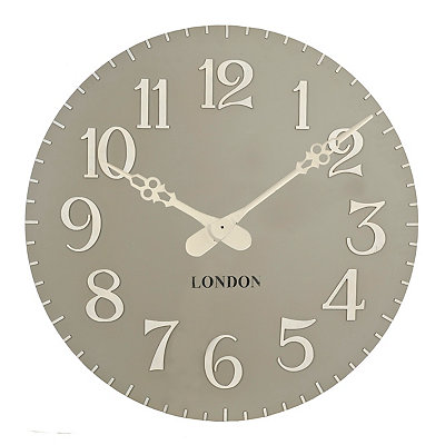 Gray and White Paige Clock