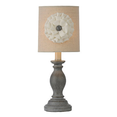 Savannah Silver Rosette Table Lamp
