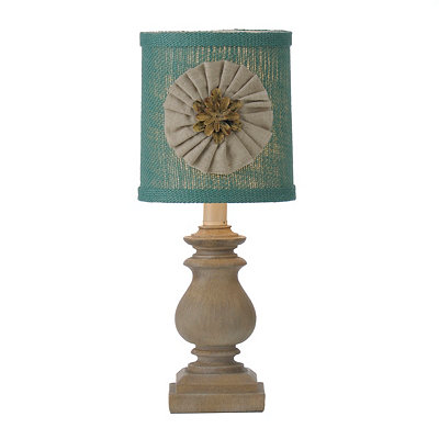 Savannah Turquoise Burlap Table Lamp