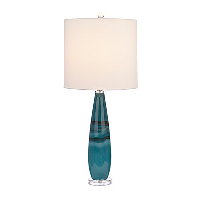 Deep Blue Sea Art Glass Table Lamp