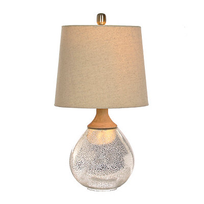 Fortune Wood and Mercury Glass Table Lamp