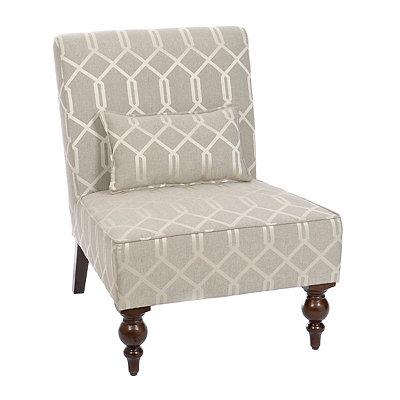 Calloway Pewter Slipper Chair