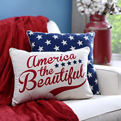 America the Beautiful Pillow