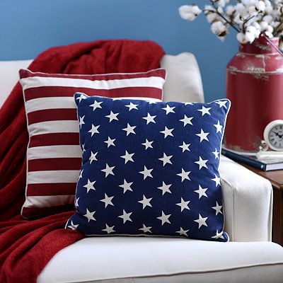Stars and Stripes Pillows, Set of 2