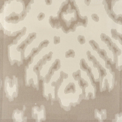 Fog Gray Ikat Fabric Swatch