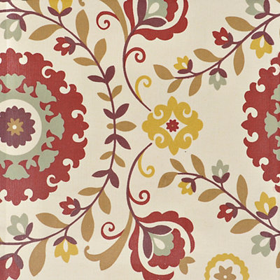Persimmon Floral Fabric Swatch