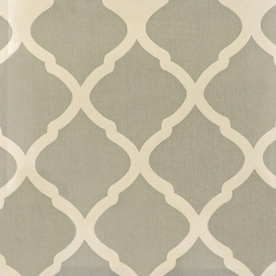 Soft Blue Trellis Fabric Swatch