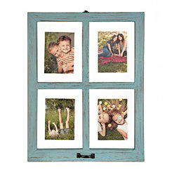 Distressed Blue Window Pane Collage Frame