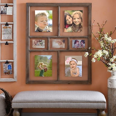 natural window pane collage frame